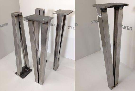 4 x steel thick hairpin style table legs for coffee or dining table