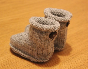 Knitted Baby Slippers