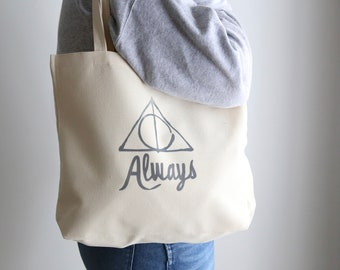 Harry Potter Golden Trio Embroidered Tote Bag