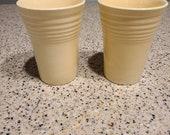 Fiestaware Ivory Vintage Water Tumblers (2)