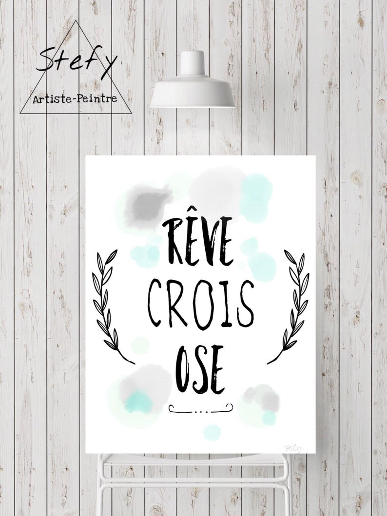 Quote Des Artistes Peintres illustration quote, quote poster, positive sentence, black and white,  motivation, home decor, room, stefy, stefy artiste, wall art