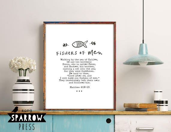 Scripture Print, Scripture Art, Bible Verse Art, Christian Wall Art,