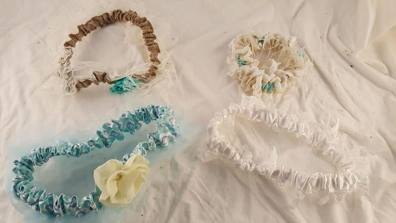 costume 9 inch 5 inch 8 inch garter wedding garter