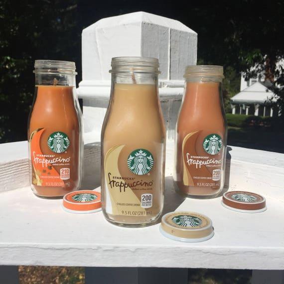Pumpkin Spice Hazelnut Caramel French Vanilla Peppermint Latte Scented Starbucks Frappuccino Bottle Candle