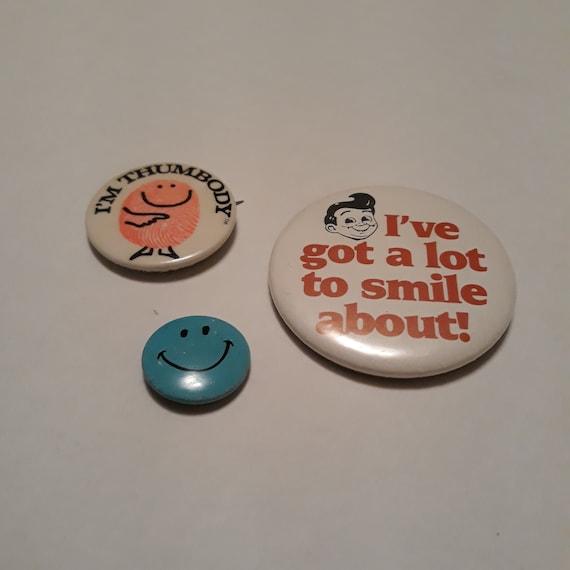 School Button Pin Vtg Button Pins 80/'s Button Badges School Pinback Academy Pinback 1980s Button Pins Vtg Pinback Buttons