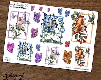 Amy Brown Springtime Stickers Ashwood Arts