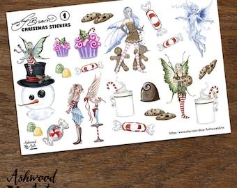 Amy Brown Christmas Stickers Ashwood Arts