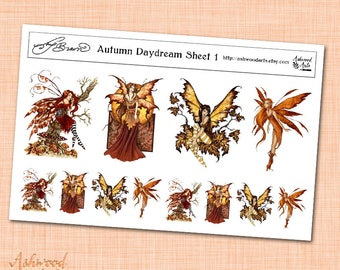 Amy Brown Autumn Daydream Stickers Ashwood Arts