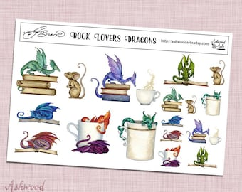 Amy Brown Book Lover Stickers Ashwood Arts
