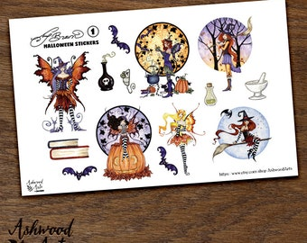Amy Brown Halloween Stickers Ashwood Arts