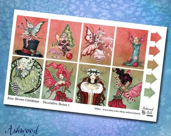 Amy Brown Christmas Stickers Planner Weekly Kit Erin Condren Ashwood Arts