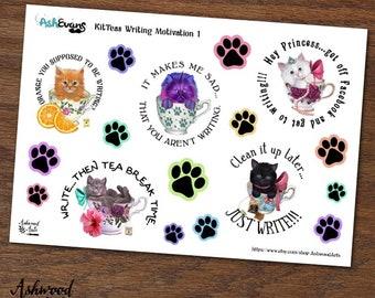 Ash Evans Kit-teas Writer Motivation Stickers Ashwood Arts