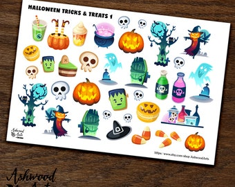 Autumn Halloween Tricks and Treats Stickers Ashwood Arts
