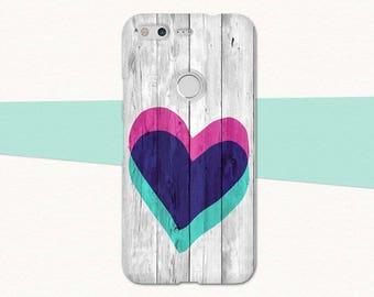 16a9e86f75 Wood Heart Google Pixel 2 Case, Heart Pixel Case, Faux Wood Pixel Case,  Pixel XL Case, Google Pixel XL 2, Phone Case Pixel, Google Case Cute