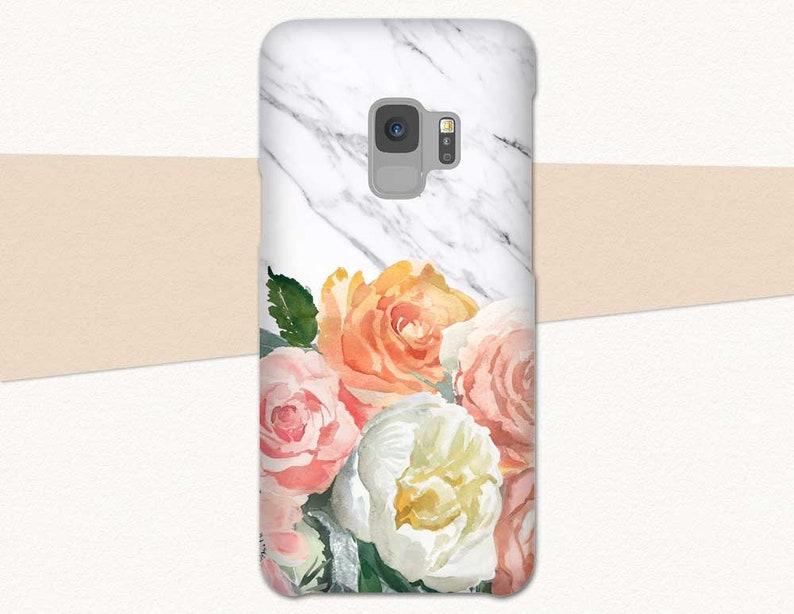 premium selection 17423 267e0 Flower Galaxy S9 Case, Floral Galaxy S9 Plus Case, S9 Phone Case, Flowers  Marble, Galaxy S9, Samsung Galaxy S8 Case, S8 Plus, Samsung Note 8