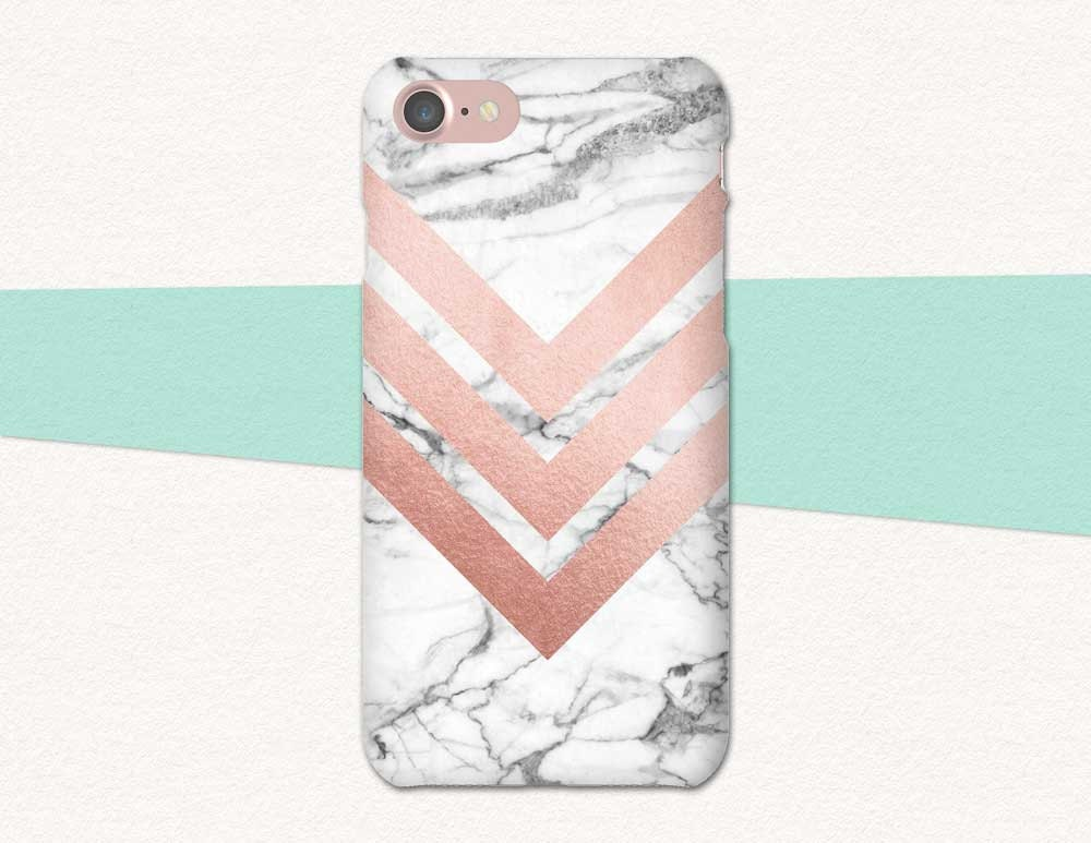 uk availability 2eb24 64a98 Rose Gold Phone Case, Chevron Phone Case, Marble Phone Case, Marble iPhone  6S Case, iPhone Case Rose Gold Marble, iPhone 6 6S Plus, SE Pink