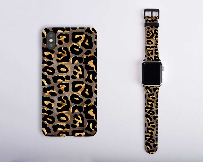 separation shoes 00f69 4ca09 Cheetah Apple Watch Band Series 4 3 2 1 Matching Set iPhone Case Cheetah  Print iPhone XS Max iPhone XR Case Leopard Print 38mm 42mm 40mm 44