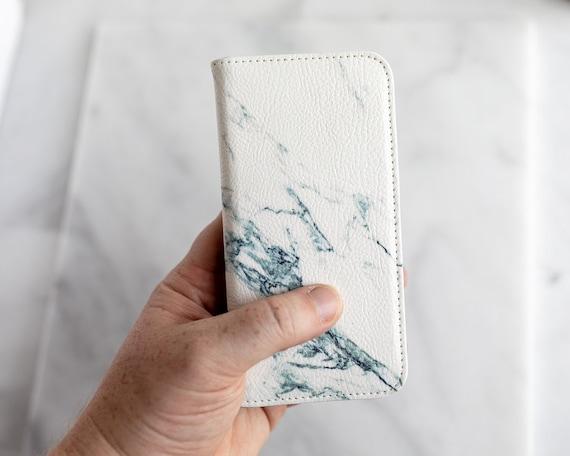 coque portefeuille iphone xs marbre