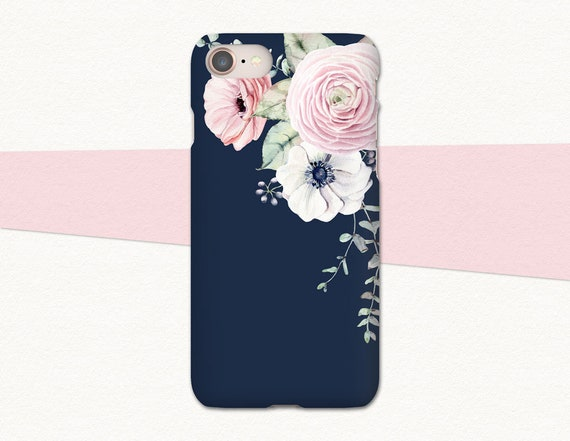 Blue iPhone X Case Floral iPhone Xs Max Case Flowers iPhone 8   Etsy