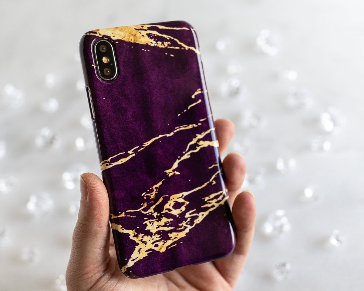newest b3dc7 39e9e Dark Purple and Gold iPhone Case, Marble iPhone Case, Purple iPhone 7 Case,  iPhone 6 Case Purple, iPhone 7 Plus Case Marble, iPhone 6S Plus