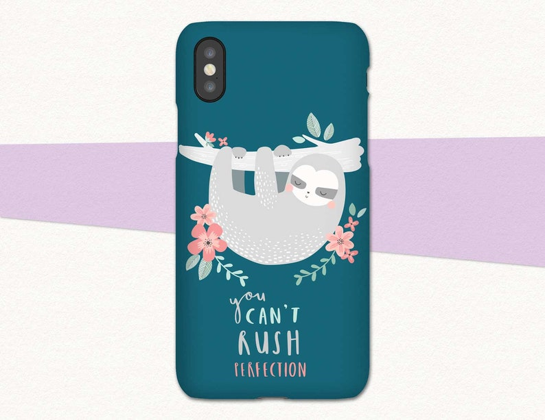 new concept 8cfa3 cf043 Cute Sloth Phone Case Green Sloth iPhone XS Case iPhone X Phone Case Sloth  iPhone 8 Case for iPhone 7 Case iPhone SE Unique iPhone XR Xs Max