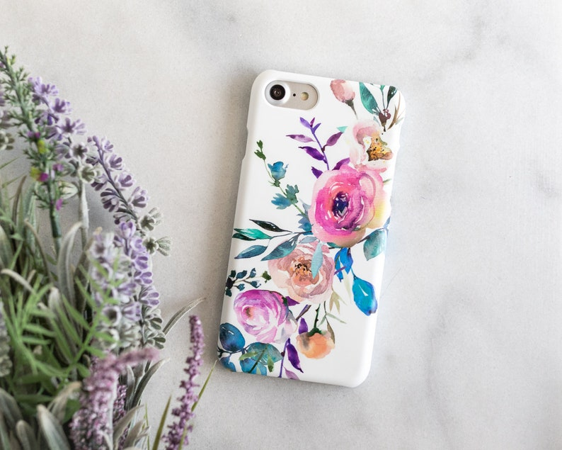 on sale d2d40 08b57 Flower Galaxy S8 Case, Floral Samsung Galaxy S7 S6 S9 Plus, Galaxy Note 8,  Note 9, Galaxy S8 Phone Case, Flower Samsung Galaxy S8 Plus, S9