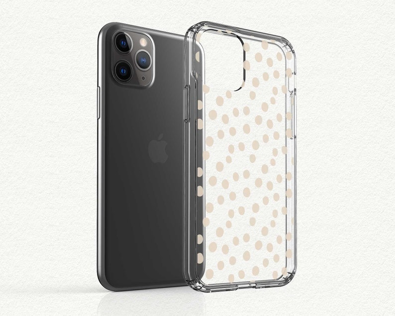Nude Dots Spotted iPhone XS Max Clear Case with Design