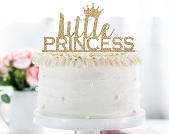 Little Princess Cake Topper Baby Shower Birthday 1st Gold Pink Rose Pm024