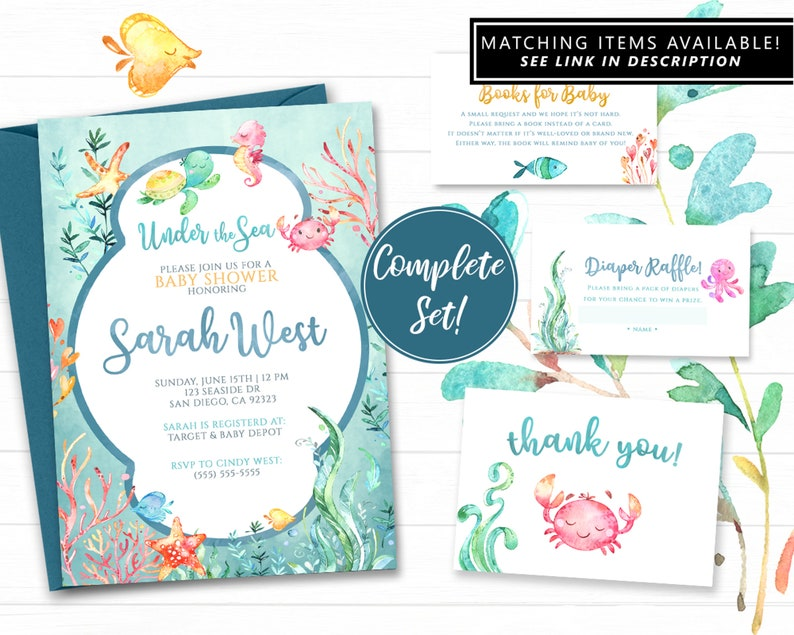 4x6 Baby Shower Due Date Table Sign \u2013 Summer Breeze or Summer Sunset Palette \u2013 Printable 4x6 Sign by Squawk Box Studio