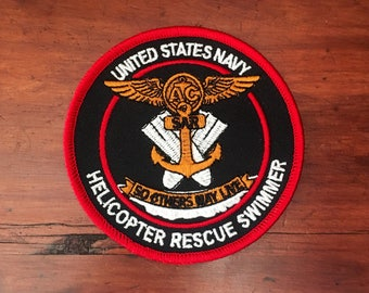 United States Naval Rescue nageur Patch - Version rouge