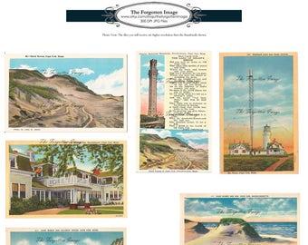 Vintage Digital New England Cape Cod Postcards, Printable Vintage Ephemera from New England, Digital Images Cape Cod