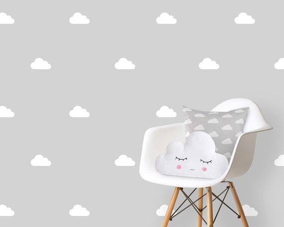 Wand Aufkleber Kinderzimmer Kinder Wolken weiß, Wandtattoo Kinderzimmer,  Wandtattoo Aufkleber Vinyl Kinder Aufkleber, Aufkleber weiße Wolken Wolken,  ...