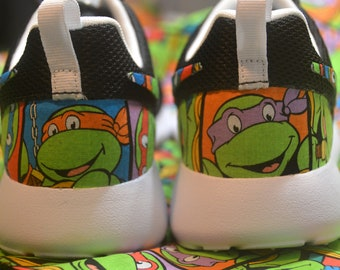 906198021eb Teenage Mutant Ninja Turtles TMNT Custom Nike Roshe Run One Shoe Sneaker -  Grade School Boys  Girls  Kids