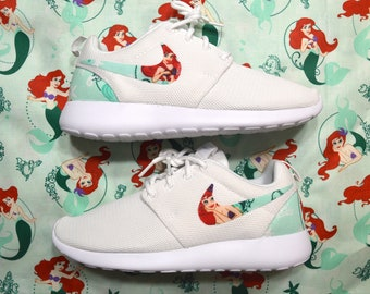 f38eb152d556 Ariel Little Mermaid Custom Nike Roshe Run One Shoes Sneaker