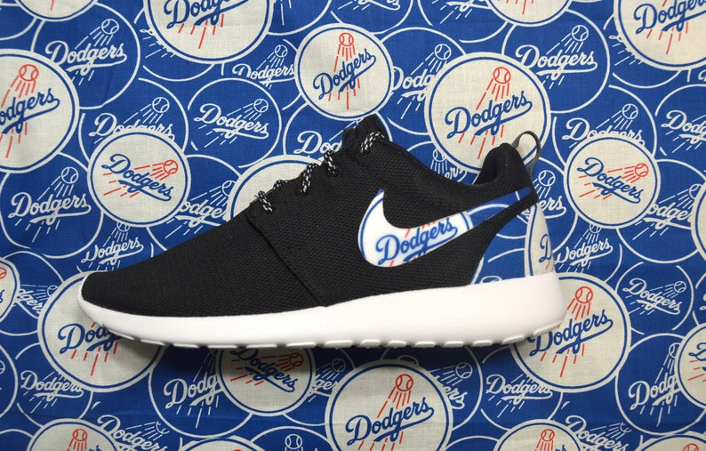 plus récent d6b28 cf3e5 LA Dodgers Custom Nike Roshe Run One Shoe Sneaker - Grade School Boys'  Girls' Kids