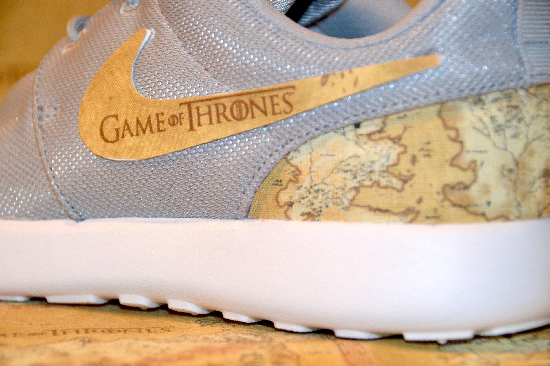 Game Of Thrones Custom Nike Roshe Run One Shoe Sneaker Boys Grade