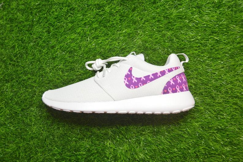 62aff2214418f Breast Cancer Awareness Pink Ribbon Custom Nike Roshe Run One
