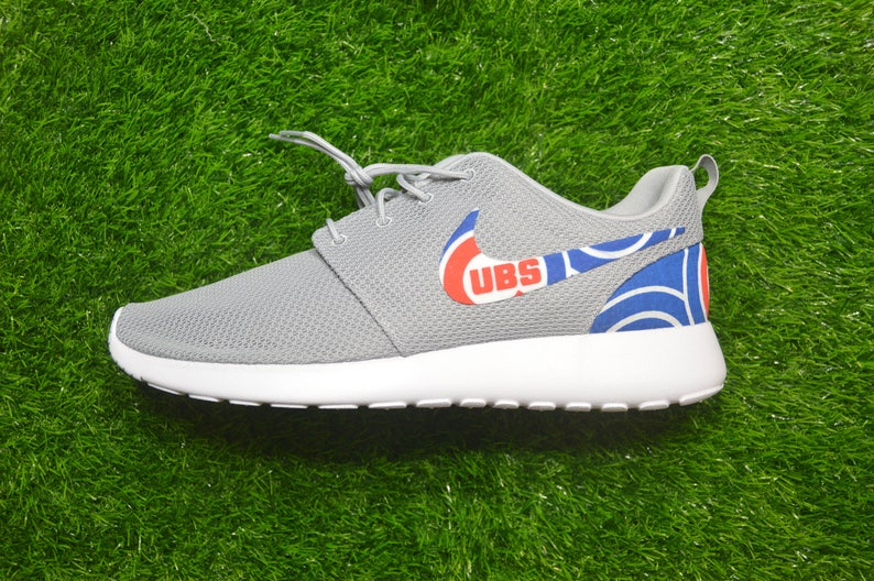 243f8da3a7fb9 Chicago Cubs Custom Nike Roshe Run One Shoes Sneaker