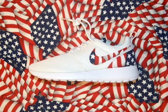 American Flag Custom Nike Roshe Run One Shoes Sneaker Grade School Boys' Girls' Kids