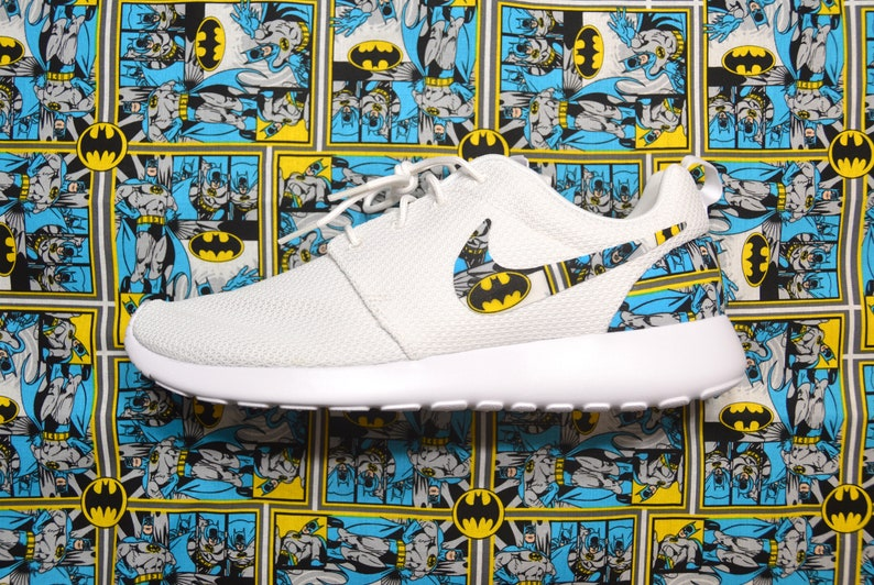 a79b93b434080 Batman Custom Nike Roshe Run One Shoe Sneaker Grade School
