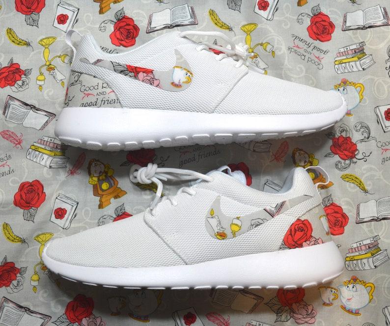 16346cdd1bef Beauty And The Beast Custom Nike Roshe Run One Shoes Sneaker