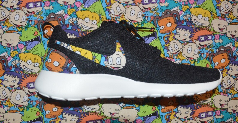 best service 308a4 f9427 Rugrats Custom Nike Roshe Run One Shoe Sneaker   Etsy