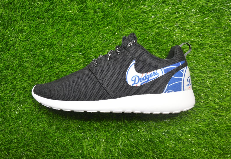 bfdedd3d0b118 Los Angeles LA Dodgers Custom Nike Roshe Run One Shoe Sneaker