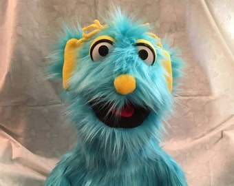 Puppet, Monster Puppet, Hand Puppet, Turquoise, Doll, Ventriloquist, Marionette, Puppeteer