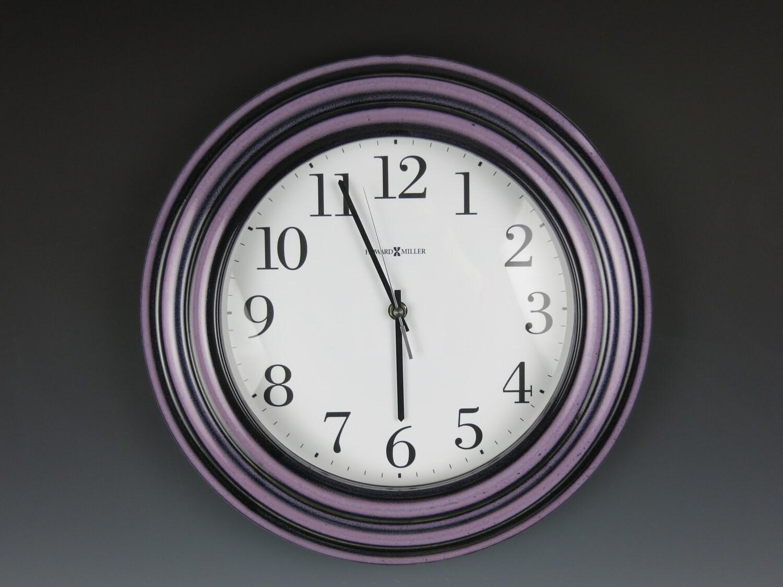 Ceramic Clockhanging Clockhandmadewall Clockhoward Miller Etsy
