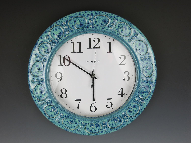 Ceramic Clockclockhandmadewall Clockhoward Miller Etsy