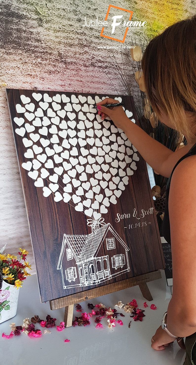 Alternative guest book Up House Disney Theme Wedding Guest image 0