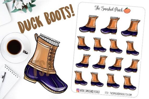 e2fa6d0d68e0 Duck Boots Rainy Day Planner Sticker Sheet for Calendars Erin