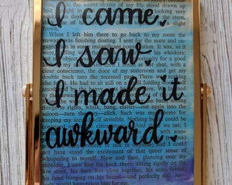 Awkward framed quote
