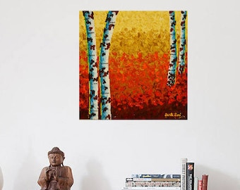 """Acrylic Painting on CANVAS   Art Painting   Canvas ART Painting   Canvas ART   Painting On Canvas   Canvas Art """"We are Together"""""""
